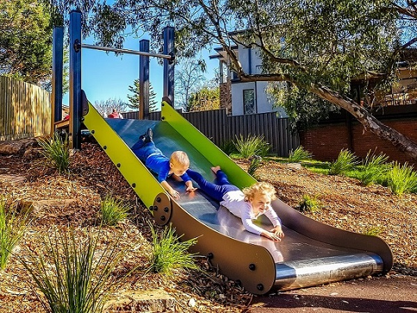 The Glade Reserve Playground double-width slide