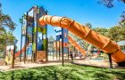 QLD - Tugun Park Castle Themed Playground