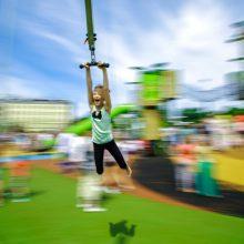 18.06.2017. Krišjāņa Barona ielā notika Centra sporta kvartāla rotaļu laukumu atklāšana.