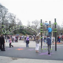 Picture of Proludic Play Equipment in use at Manor Park, Highpeak
