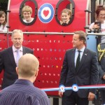 Proludic play equipment at RAF Brize Norton with David Cameron ex-Prime Minister