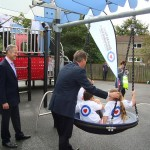 Proludic Swing being used by David Cameron and some lucky kids!