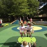 Kids enjoying our wide range of playground equipment