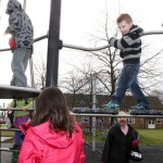playground equipment in use at a Proludic site
