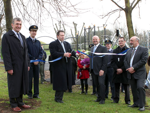 Proludic playground being opened