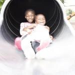 Children enjoying Proludic's Playground Equipment in London