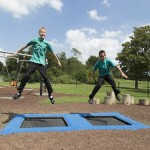 proludic's outdoor gym equipment in use