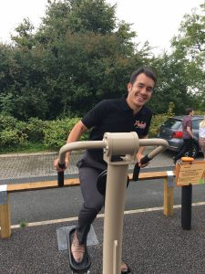 Mark on Proludic outdoor gym equipment