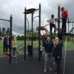 Children Playing on Proludic Equipment at West Park play area opening