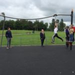 Boy Using Proludic Adventure Play Equipment At West Park Opening