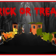 Trick or Treat Spooky Advertising for Proludic Bespoke Playground Equipment from Grafic Games Range
