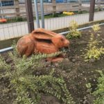 Great Gedling Site Opening for New Play Area Image 2 Bunny Sculpture