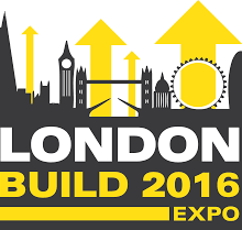 London Build 2016 Expo Graphic with London Skyline Small Square