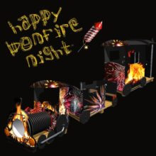 Happpy Bonfire Night Bespoke Firework Train Themed Play Equipment