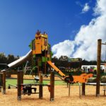 case studies hednesford park play area image 5 bespoke brightly coloured play equipment