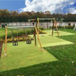 case studies hednesford park play area image 3 proludic swing set play area play equipment