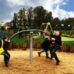 case studies hednesford park play area image 1 children playing on play equipment