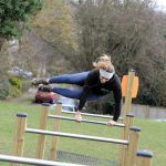 HarpendenTownCouncil Picture 4 Proludic Outdoor Gym Equipment in Use Hurdles