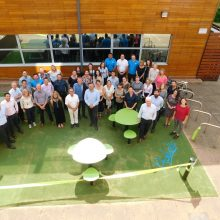 ProludicStaff gathered by the new recently opened recreational play area