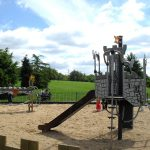proludic creating innovative playground equipment on installation bespoke castle theme