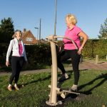 urbanix proludic outdoor gym stepper stair climber in use by woman