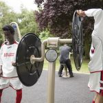 urbanix play equipment being used by young adults promoting a healthy life style