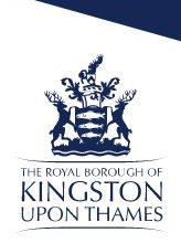 Royal Borough of Kingston Upon Thames Small White Logo