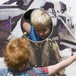 children playing on proludic play equipment at Royal Air Force museum image 2