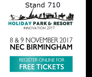 Holiday Park and Resort Logo Innovation 2017 Call to Action Register Online for Free Tickets