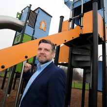 Proludic support for #nowhere2play campaign. Rob Baker stood with Playground Equipment.