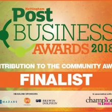 nottingham business awards - contribution to the community category