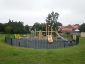 Example of a Proludic playground fully installed with great play equipment
