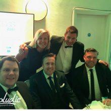 Nottingham Evening Post Business Awards Group Image wit Proludic Branding in Left Lower Corner