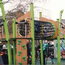 Kingston Play Area Bespoke Proludic Design Children Playing On Site