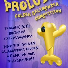 Proludic Golden Salamander Competition Announcement Poster