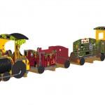 trein met amazoneprint