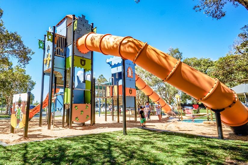 QLD - Tugun Park Castle Themed Playground